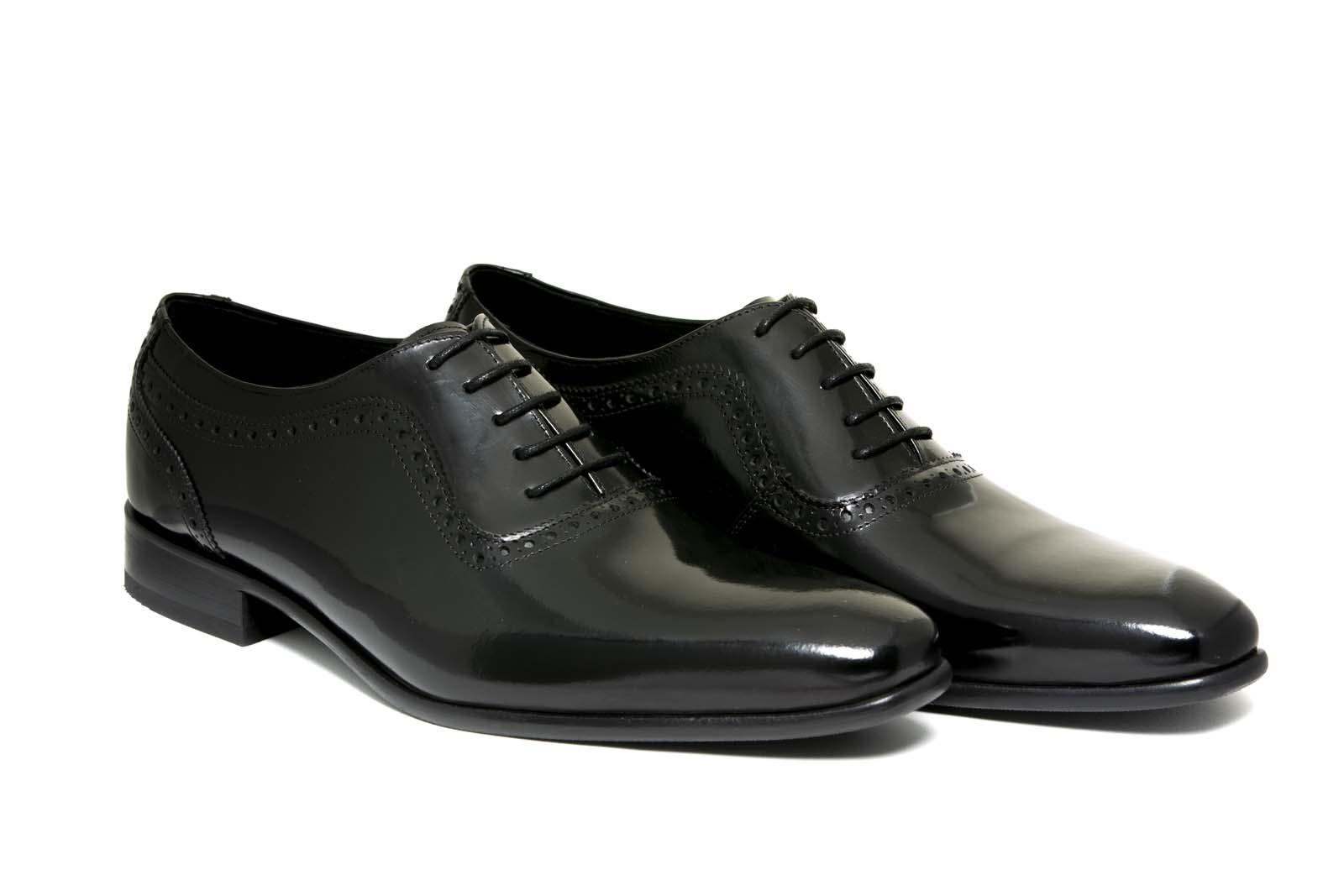 Zapatos de novio modelo Oxford negro liso antik