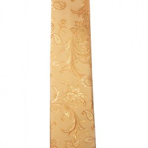 Corbata dorado dibujos cachemir