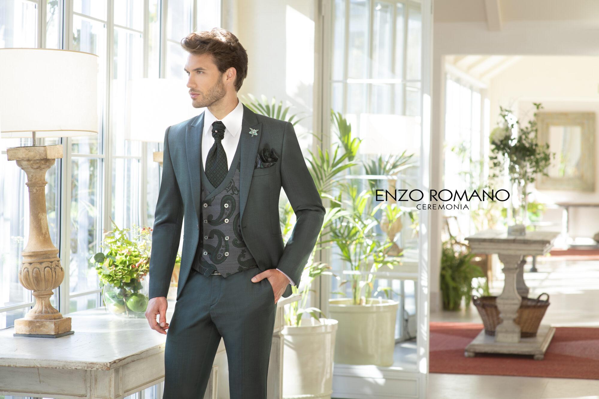 Traje de novio Colección Enzo Romano 2021